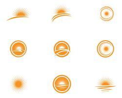 Icône d'illustration vectorielle soleil
