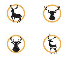 Cerf vector illustration icône design