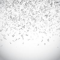Notes de musique abstraites