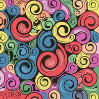 Swirl art rétro de fond vecteur
