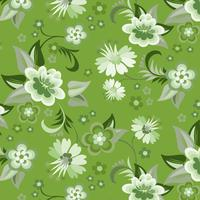 Fond d'écran floral vert sans soudure