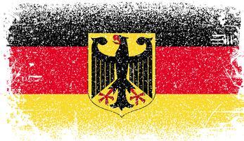 Drapeau Allemagne Grunge vecteur