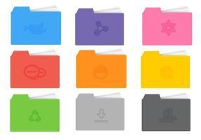 Pack de vecteur de dossier d'icônes lumineux