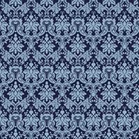 Fond ornemental de luxe Webseamless. Motif floral sans soudure damassé. Papier peint royal. vecteur