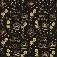 Motif joyeux anniversaire fond de couleur marron vecteur