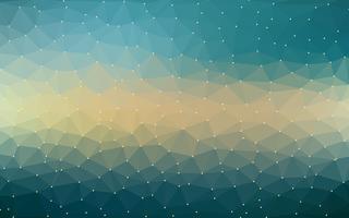 Abstract Vector Low poly coloré avec motif futuriste dégradé chaud.