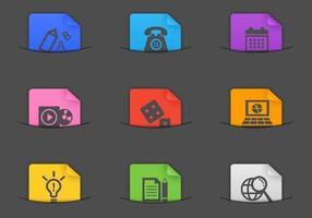 Pack de vecteur icône de poche divers