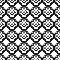 Modèle sans couture de vecteur. Motif géométrique répété noir et blanc
