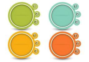 Ensemble vectoriel de bannière optionnelle circulaire