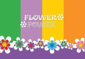 Vecteur de fond de puissance de fleur
