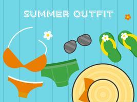 Vacances d'été, illustration vectorielle d'affiche plage été