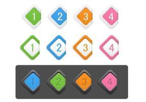 Diamant Numéroté Icon Pack Vector