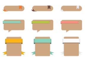 Paquet vectoriel d'étiquettes en papier artisanal