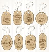 étiquettes rétro boulangerie