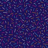 Style rétro de memphis modèle abstrait lignes colorées vecteur