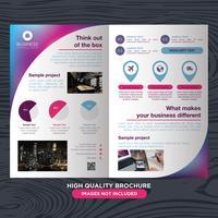 Brochure colorée sur les entreprises
