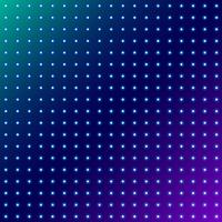 Motif radial rougeoyant de points abstraits sur fond d'espace bleu.