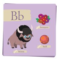 Alphabet coloré pour enfants - Lettre B