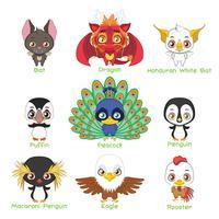 Ensemble de divers animaux aviaires