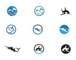 Modèle de logo de poisson vecteur