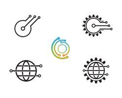 Icône du logo Technologie - Vecteurs vecteur