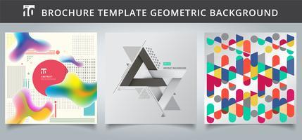 Définir la conception de couvertures géométriques modèle. vecteur