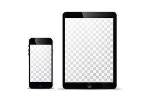 Modèle vectoriel électronique Technologie moderne, smartphones, tablettes, ordinateurs et ordinateurs portables