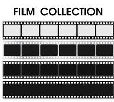 Collection de films noir et blanc rétro de vecteur. vecteur