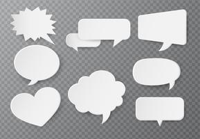 Bulle de dialogue en papier Pour la saisie de texte sur un fond transparent vecteur