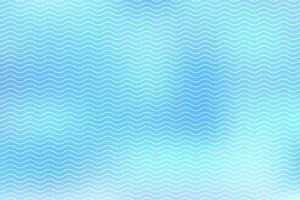 Des lignes blanches abstraites ondulent sur fond bleu vecteur