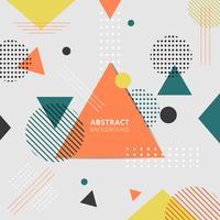 Abstrait style coloré géométrique.