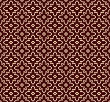 Motif linéaire sans couture avec des lignes courbes élégantes et des papiers peints ornementaux