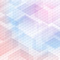 Motif abstrait d'hexagones colorés sur fond blanc.