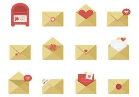 Pack vectoriel d'icônes de la Saint-Valentin