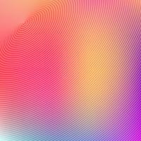 Cercles concentriques abstraites futuriste sur fond coloré. vecteur