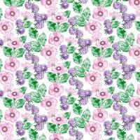 Aquarelle Floral Pattern Design sans couture vecteur