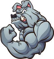 Mascot Bouledogue Fort vecteur
