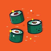Vecteur de sushi