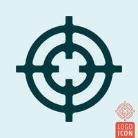 Icône en forme de croix isolée vecteur
