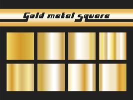Carré dégradé d'or