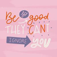 Citation de motivation lettrage mignon sur être meilleur