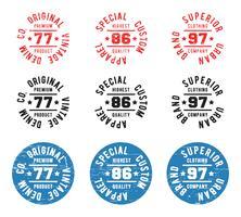 Timbre de cercle vintage