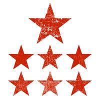 Définir l'étoile grunge vecteur