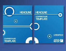 Modèle de brochures de couverture