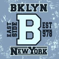 Timbre vintage de Brooklyn