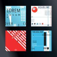 Set de brochures de couverture
