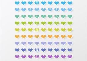 Fond de vecteur de coeur coloré Valentine