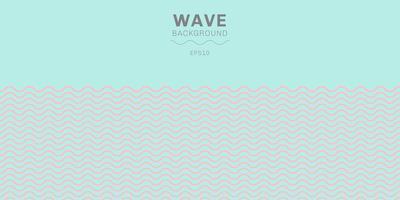 Pastel rose abstrait couleur motif de lignes vagues sur fond bleu avec espace de copie. vecteur