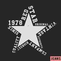 Timbre vintage étoile