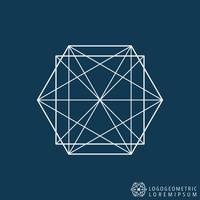 Modèle de ligne de logo